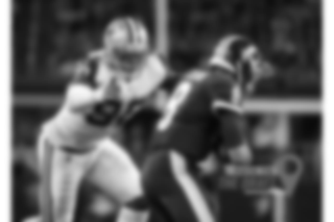Lawrence appears likely to receive the franchise tag after a breakthrough 2017 season that included the first double-digit sack season of his career. The season saw him shake off a frustrating 2016 season in which he missed four games because of a suspension and started just three times, finishing with one sack. Lawrence had more sacks last year (14.5) than in his first three seasons combined (9.0). But the most revealing number on Lawrence is the 52 quarterback hurries he posted last year, playing him sixth in the league, according to Pro Football Focus. (Greg Trott/AP Images)