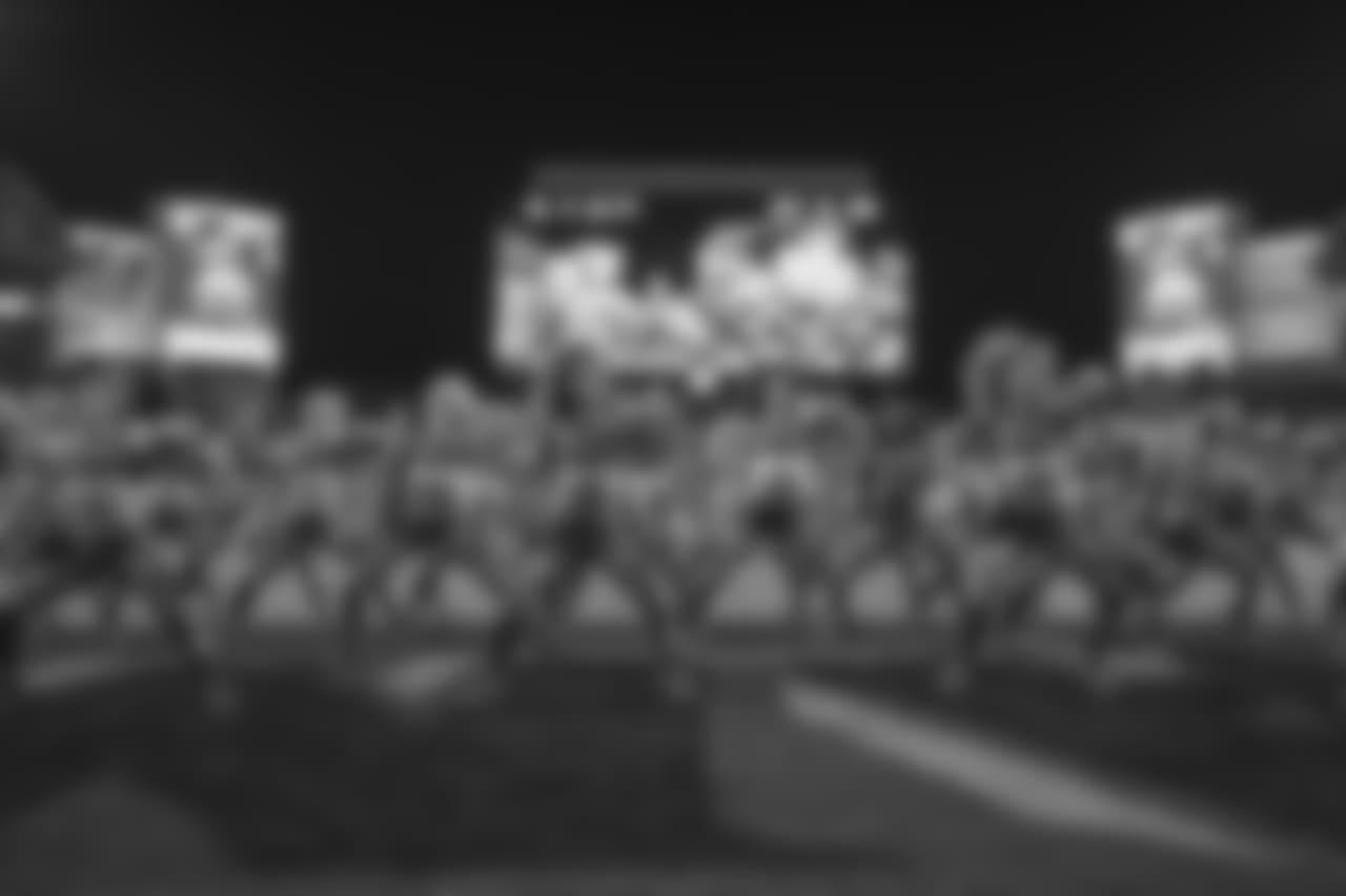 TAMPA, FL - SEPTEMBER 24, 2018 - Tampa Bay Buccaneers Cheerleaders during the game between the Tampa Bay Buccaneers and Pittsburgh Steelers at Raymond James Stadium in Tampa, FL. The Buccaneers lost 30-27. Photo By Matt May/Tampa Bay Buccaneers