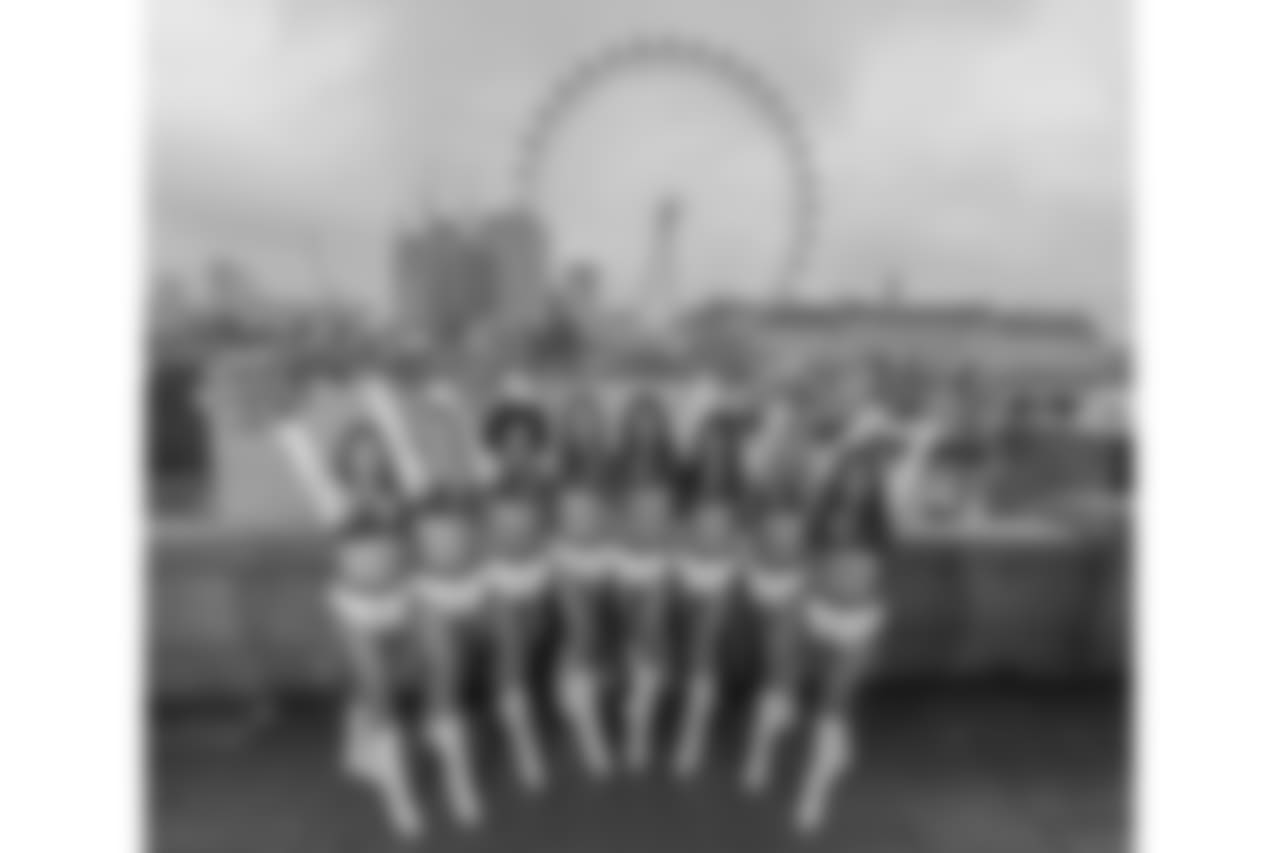 Los Angeles Chargers Cheerleaders tour of London- London Eye       photo: Dave Shopland/ NFLuk