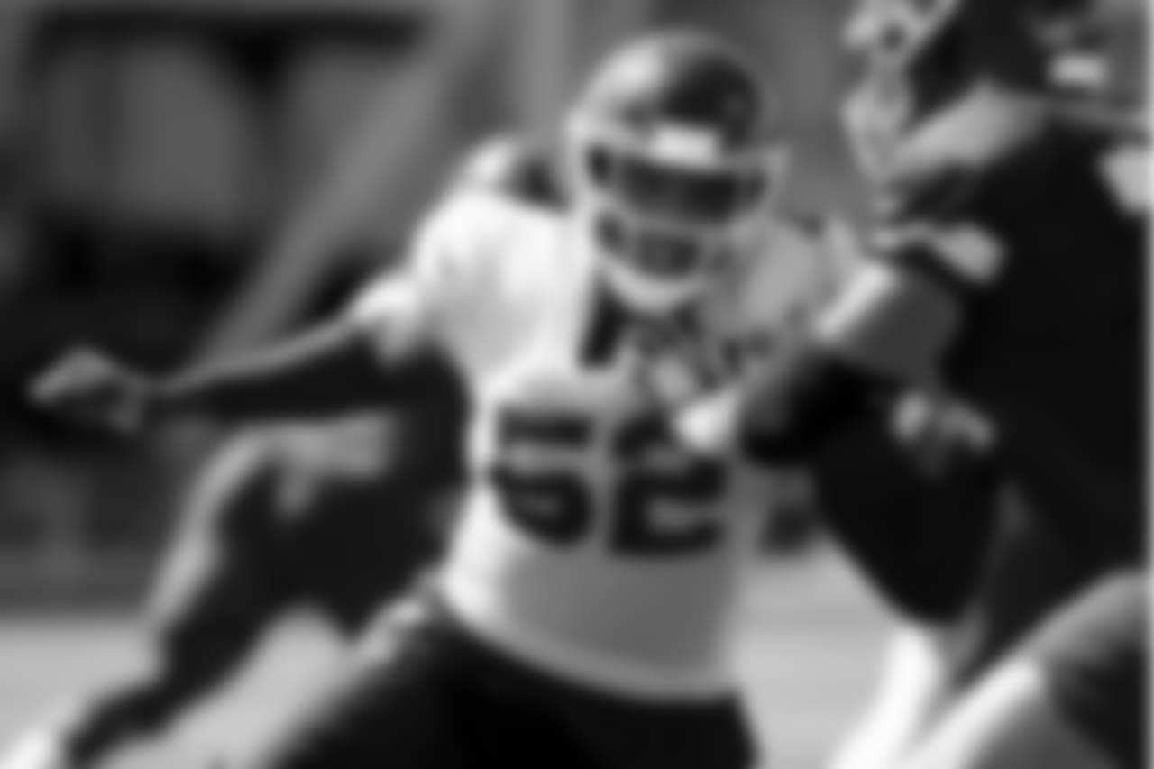 Kansas City Chiefs linebacker Rob McCray (52) during practice on 9/19/18