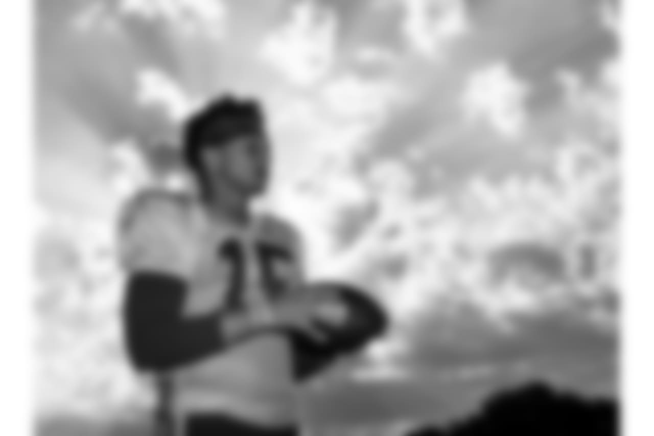 Kansas City Chiefs quarterback Patrick Mahomes (15) during practice on 8/6/18 at Chiefs Training Camp at Missouri Western State University in St. Joseph, Missouri.