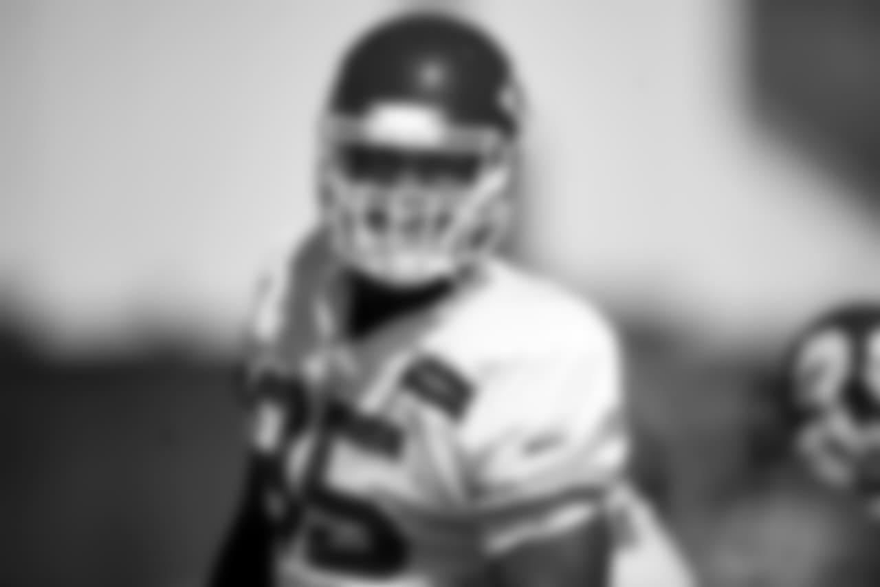 Kansas City Chiefs defensive tackle Chris Jones (95) during practice on 9/27/18