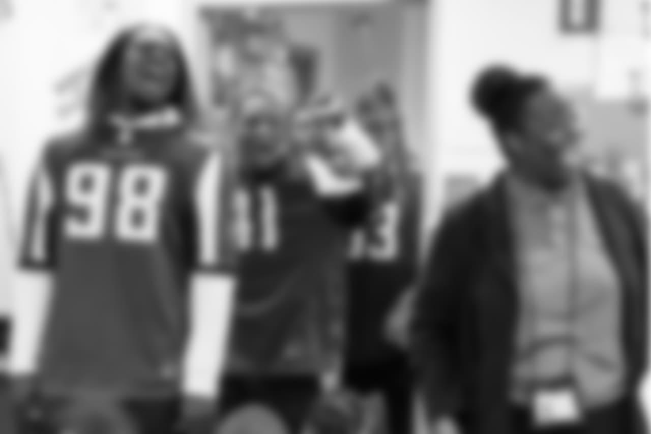 DE Takkarist McKinley  ,DB Sharrod Neasman Atlanta Falcons / Kara Durrette