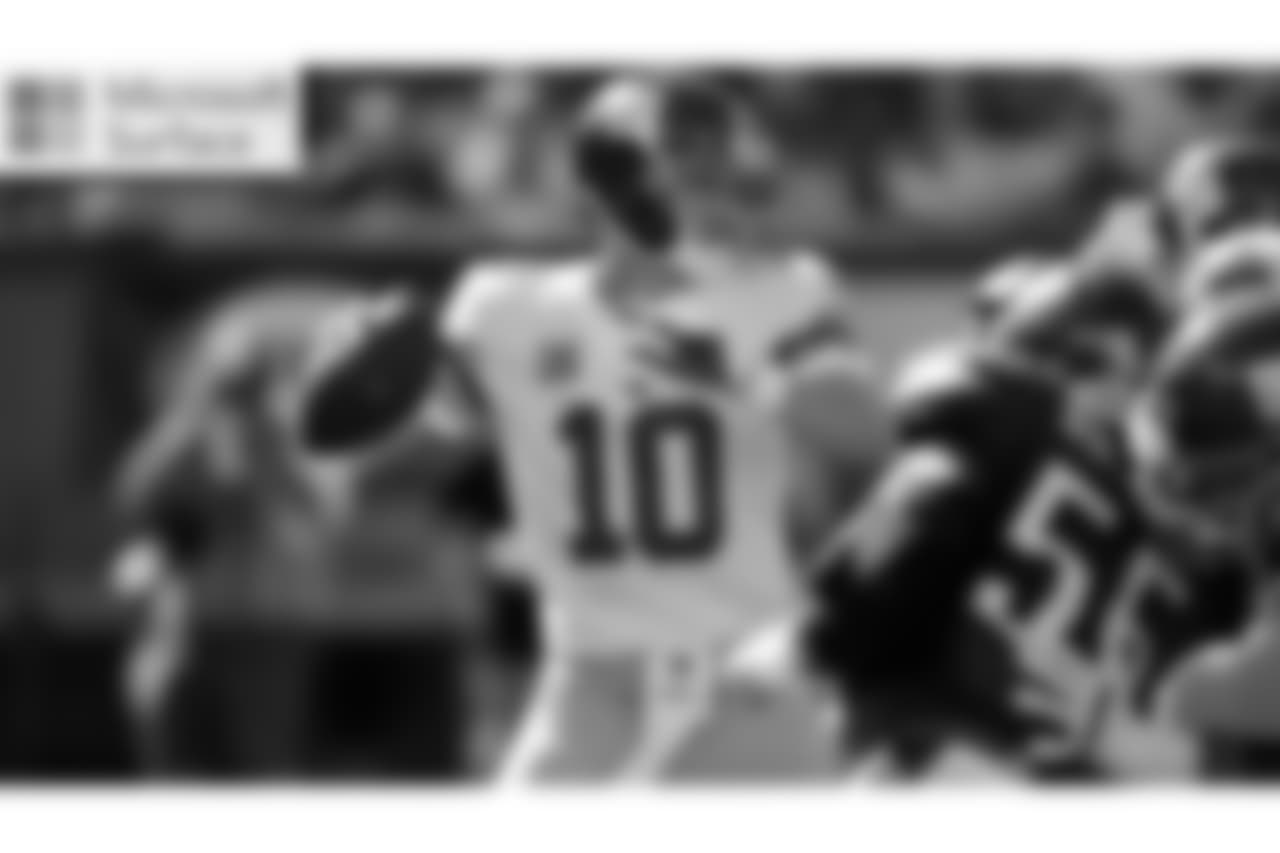 QB ELI MANNING  Coming off one his best statistical performances, Manning is looking to extend the Giants' winning streak to three games in a venue where the Giants have not won since 2013.