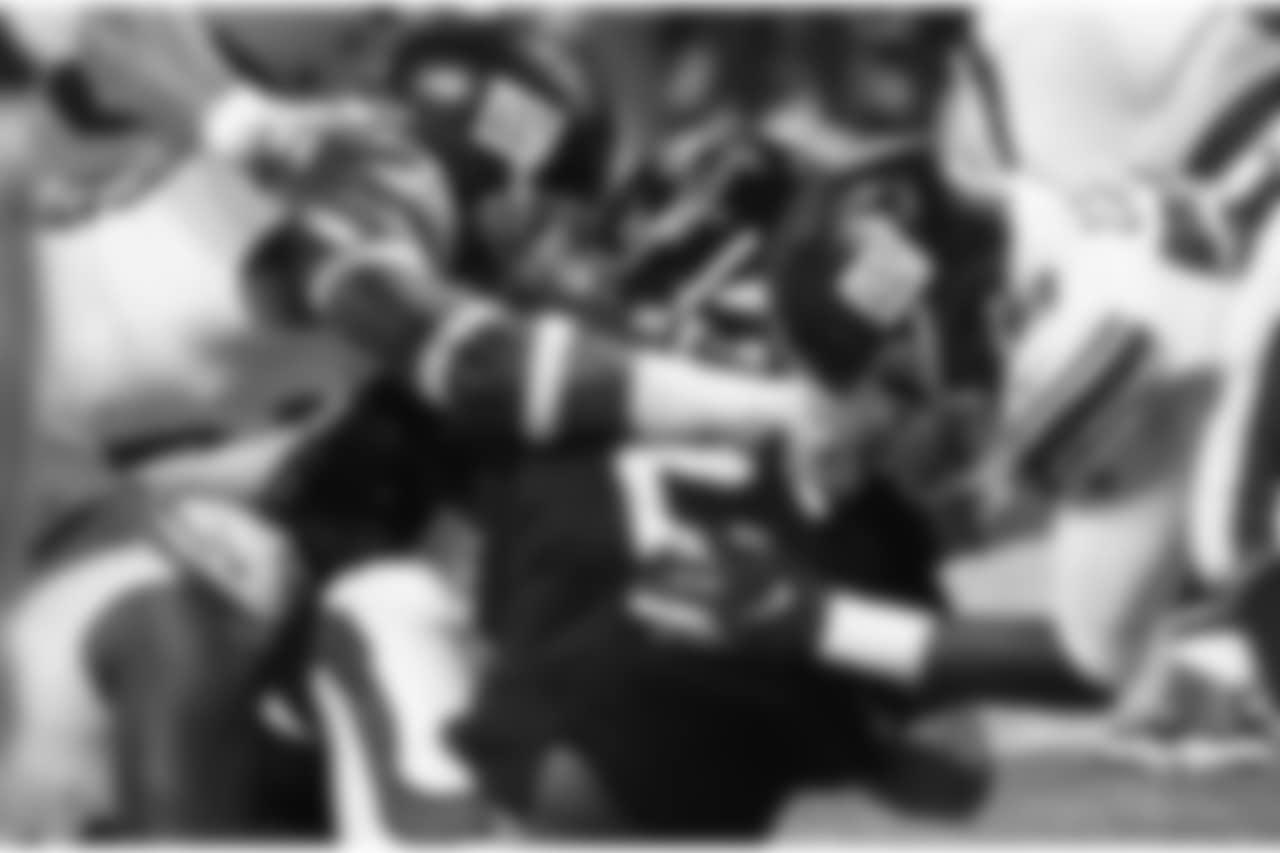 New York Giants defense sack Atlanta Falcons quarterback Matt Ryan (2) during the second half of an NFL football game, Monday, Oct. 22, 2018, in Atlanta. (AP Photo/John Bazemore)