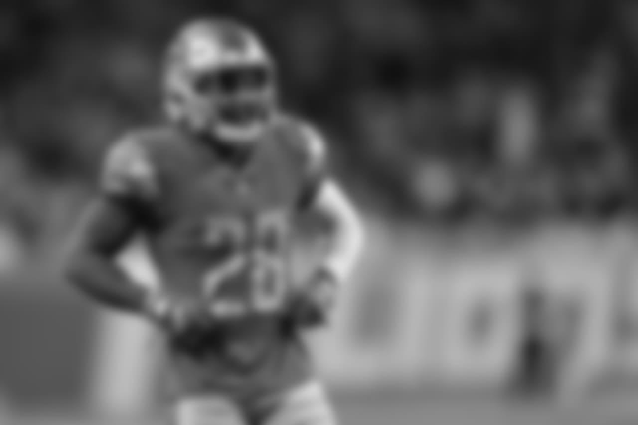 Detroit Lions defensive back Quandre Diggs (28) during a NFL football game against the Minnesota Vikings on Sunday, Dec. 23, 2018 in Detroit. (Detroit Lions via AP).