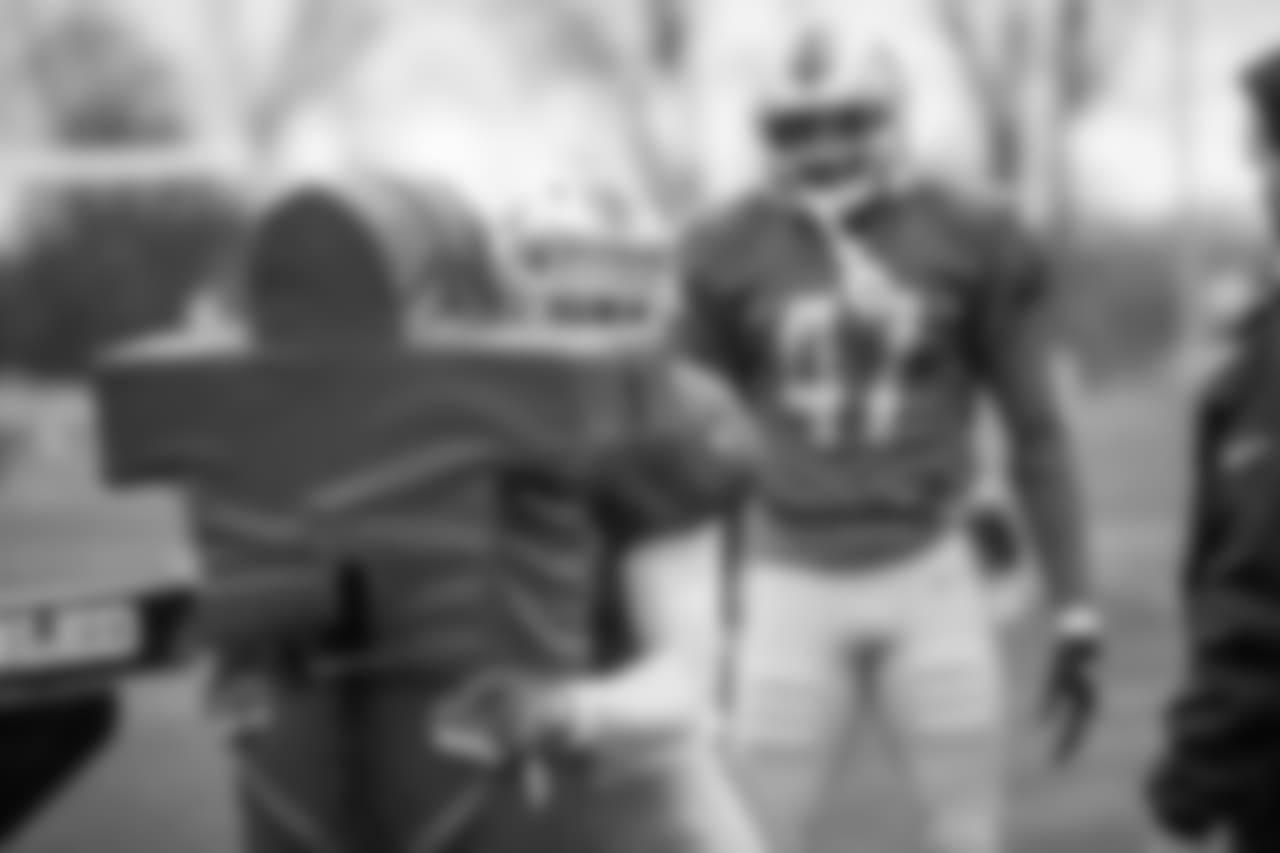 Detroit Lions safety Tavon Wilson (32) during practice at the Detroit Lions training facility on Wednesday, Nov. 7, 2018 in Allen Park, Mich. (Detroit Lions via AP)