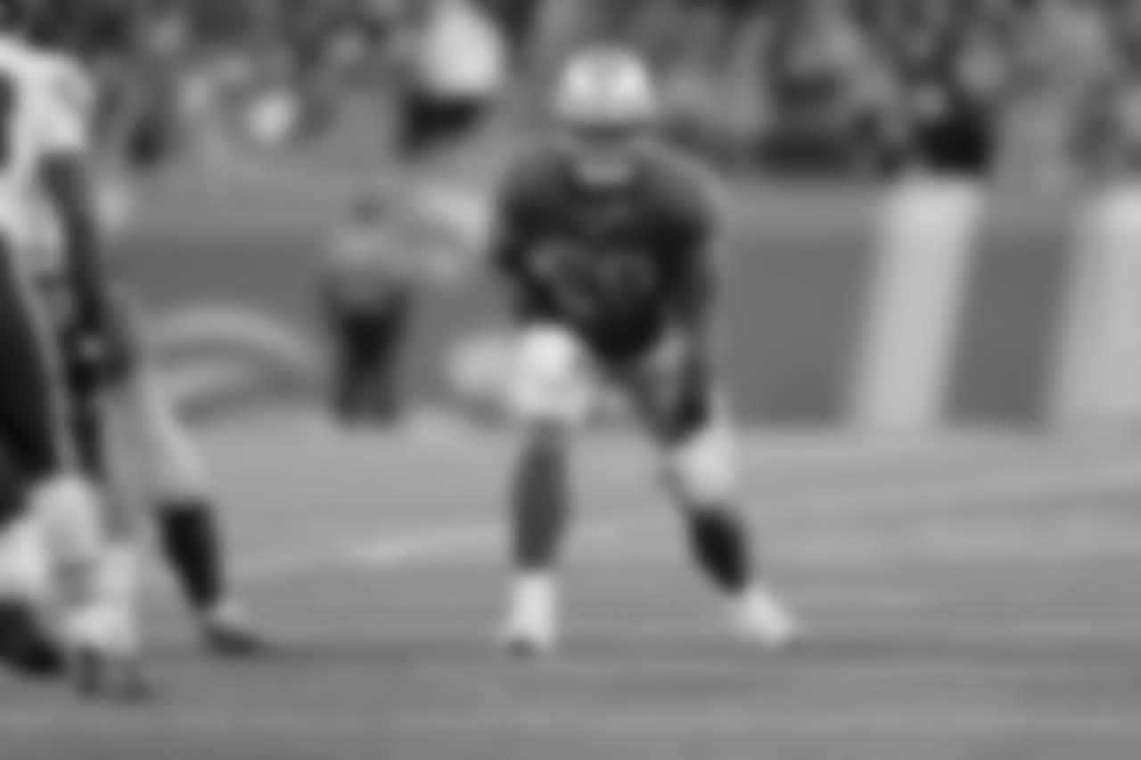 Detroit Lions tackle Taylor Decker (68) during a NFL football game against the Chicago Bears on Thursday, Nov. 22, 2018 in Detroit. (Detroit Lions via AP).
