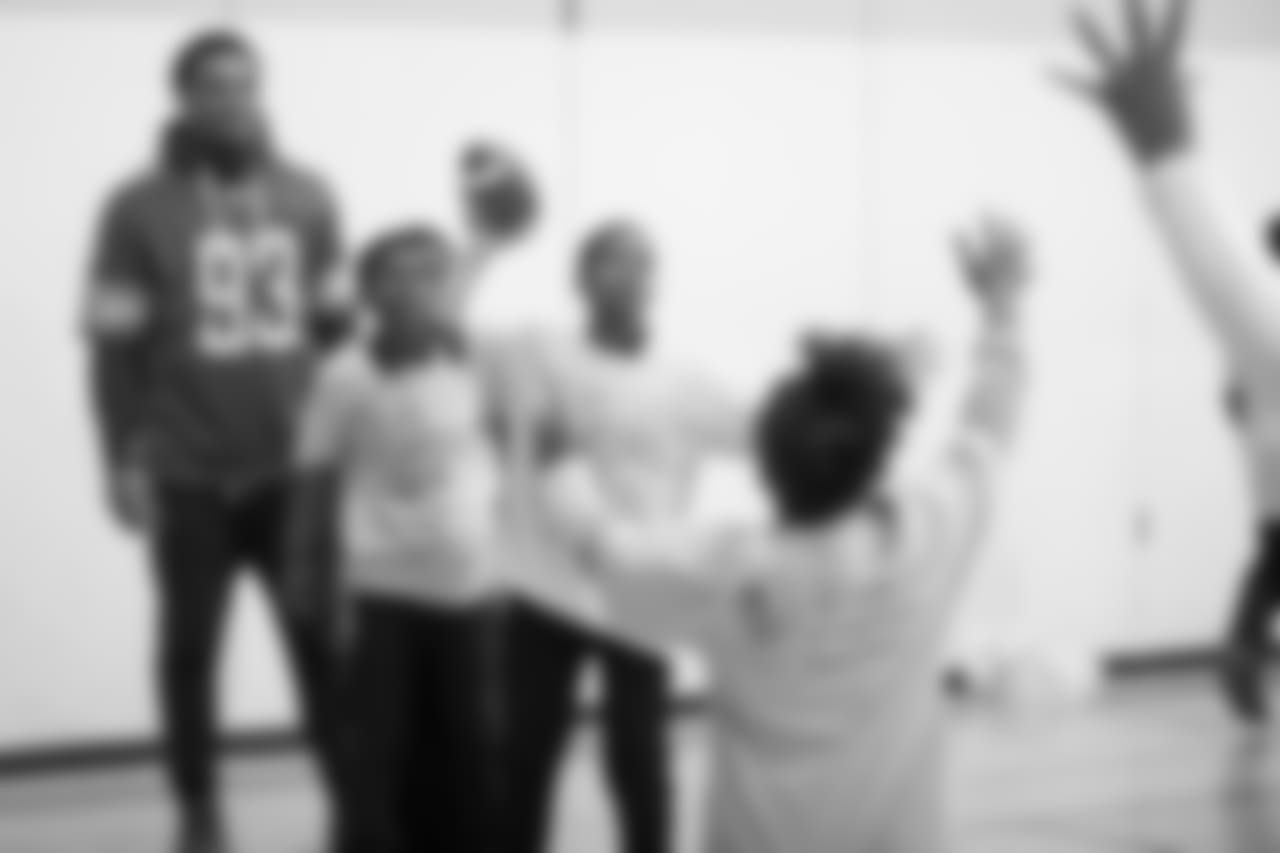 Students at a real players don't bully assembly with Playworks at Hutchinson Elementary School on Tuesday, Oct. 22, 2018 in Detroit.