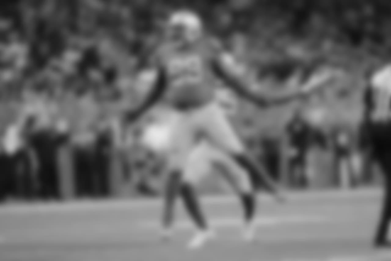 Detroit Lions defensive tackle Damon Harrison (98) and Detroit Lions defensive end Romeo Okwara (95) celebrate a sack during a NFL football game against the Chicago Bears on Thursday, Nov. 22, 2018 in Detroit. (Detroit Lions via AP).