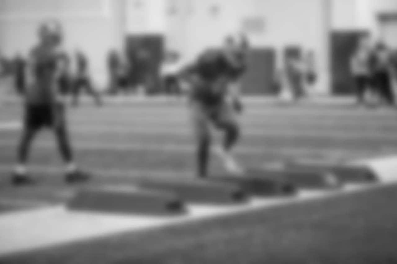 Detroit Lions safety David Jones (41) during practice at the Detroit Lions training facility on Thursday, Dec. 6, 2018 in Allen Park, Mich. (Detroit Lions via AP)