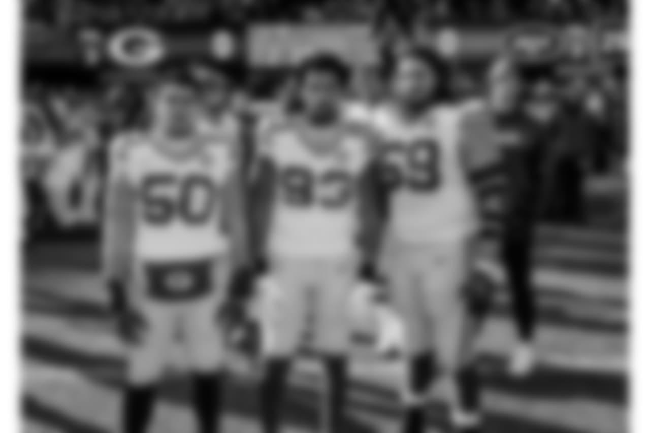Week 16 at New York Jets   LB Blake Martinez, LB Reggie Gilbert, T David Bakhtiari