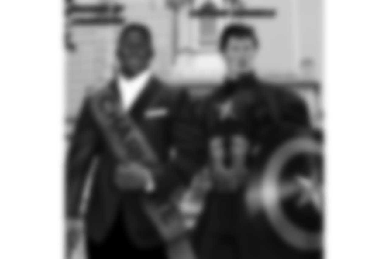 LB Thomas Davis: Mayor of Charlotte  LB Luke Kuechly: Captain America