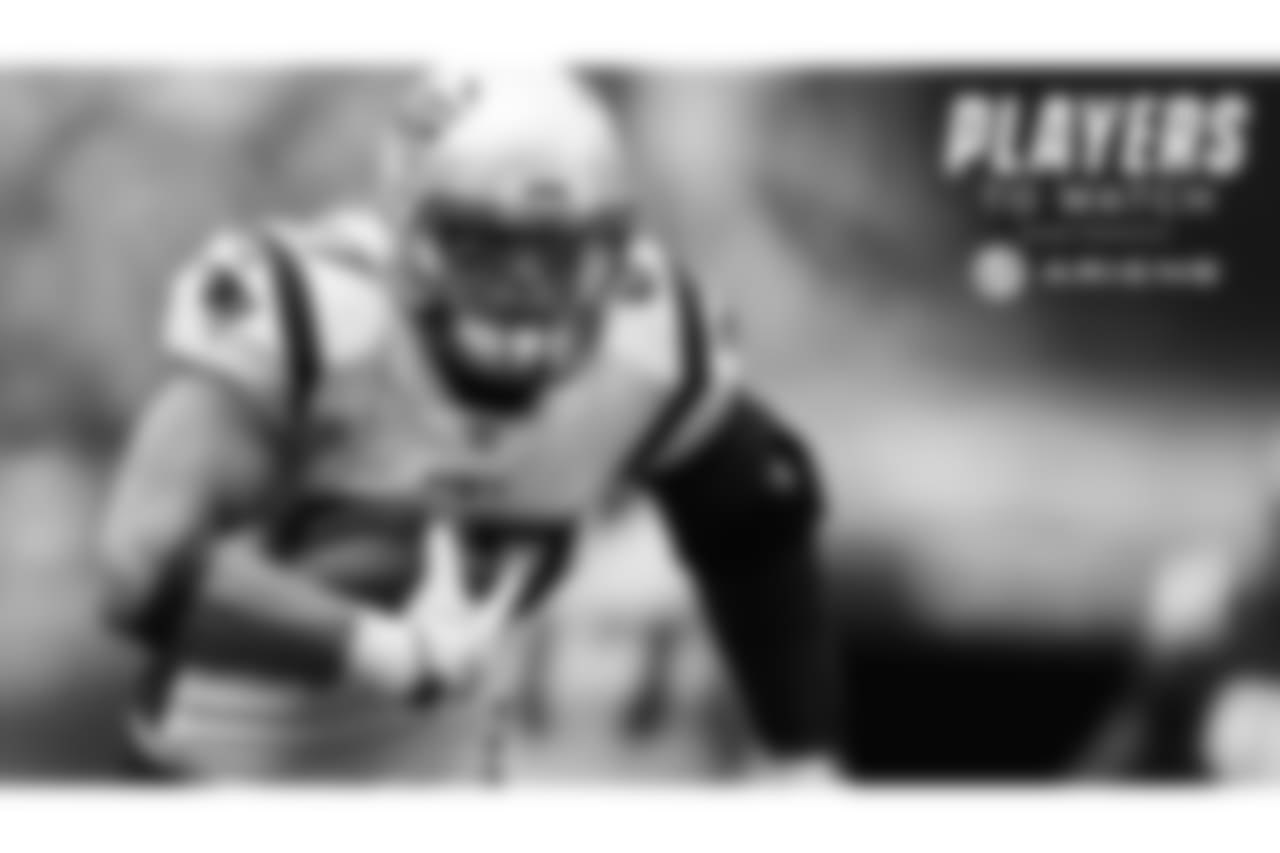 Rob Gronkowski, TE - The tight end helped carry the Patriots to victory on opening day with three catches longer than 20 yards, including his pretty 21-yard touchdown. Now he has a Week 2 trip to Jacksonville to take on talkative cornerback Jalen Ramsey and the confident Jags. Gronk is feeling good and playing even better.
