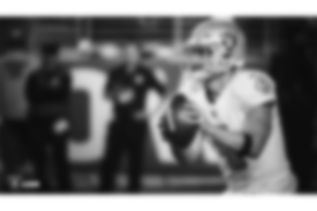 The Oakland Raiders regular season game against the San Francisco 49ers at Levi's Stadium, Thursday, November 1, 2018, in Santa Clara, California.