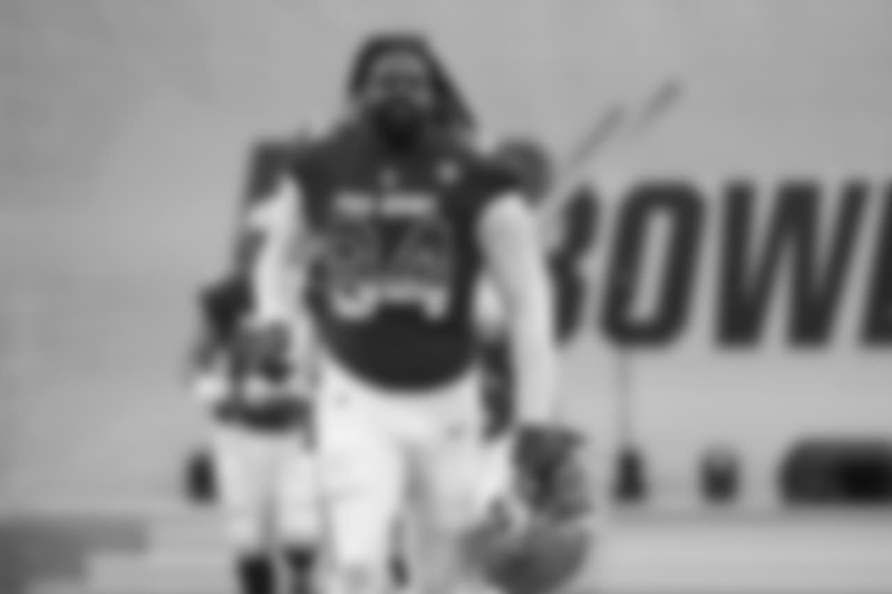 New Orleans Saints defensive end Cameron Jordan (94) runs onto the field prior to the 2019 Pro Bowl, Sunday, Jan. 27, 2019 in Orlando, Fla. (Logan Bowles/NFL)(Ben Liebenberg/NFL)