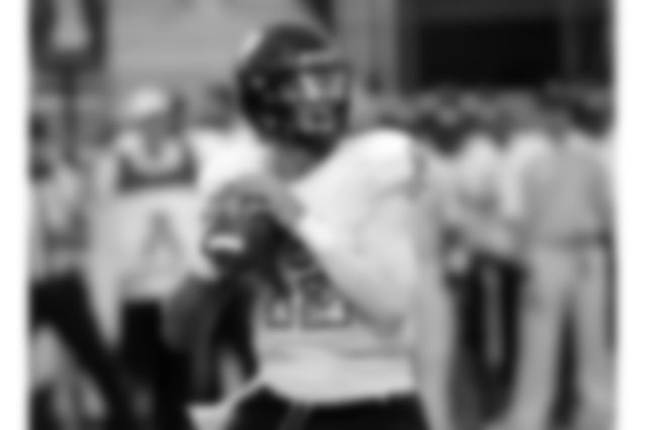 Florida International quarterback Alex McGough looks for a receiver against Central Florida during the first half of an NCAA college football game, Thursday, Aug. 31, 2017, in Orlando, Fla. (AP Photo/John Raoux)