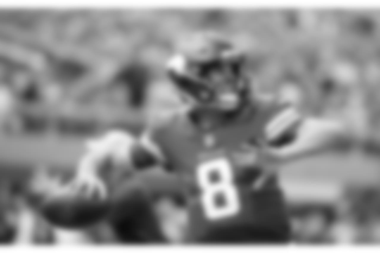 Minnesota Vikings quarterback Kirk Cousins warms up before an NFL preseason football game against the Jacksonville Jaguars, Saturday, Aug. 18, 2018, in Minneapolis. (AP Photo/Bruce Kluckhohn)
