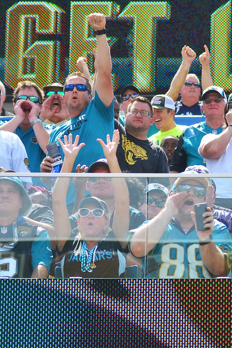 Jacksonville Jaguars Fans Get Loud Against The Baltimore Ravens Sunday,  September 25, 2016,