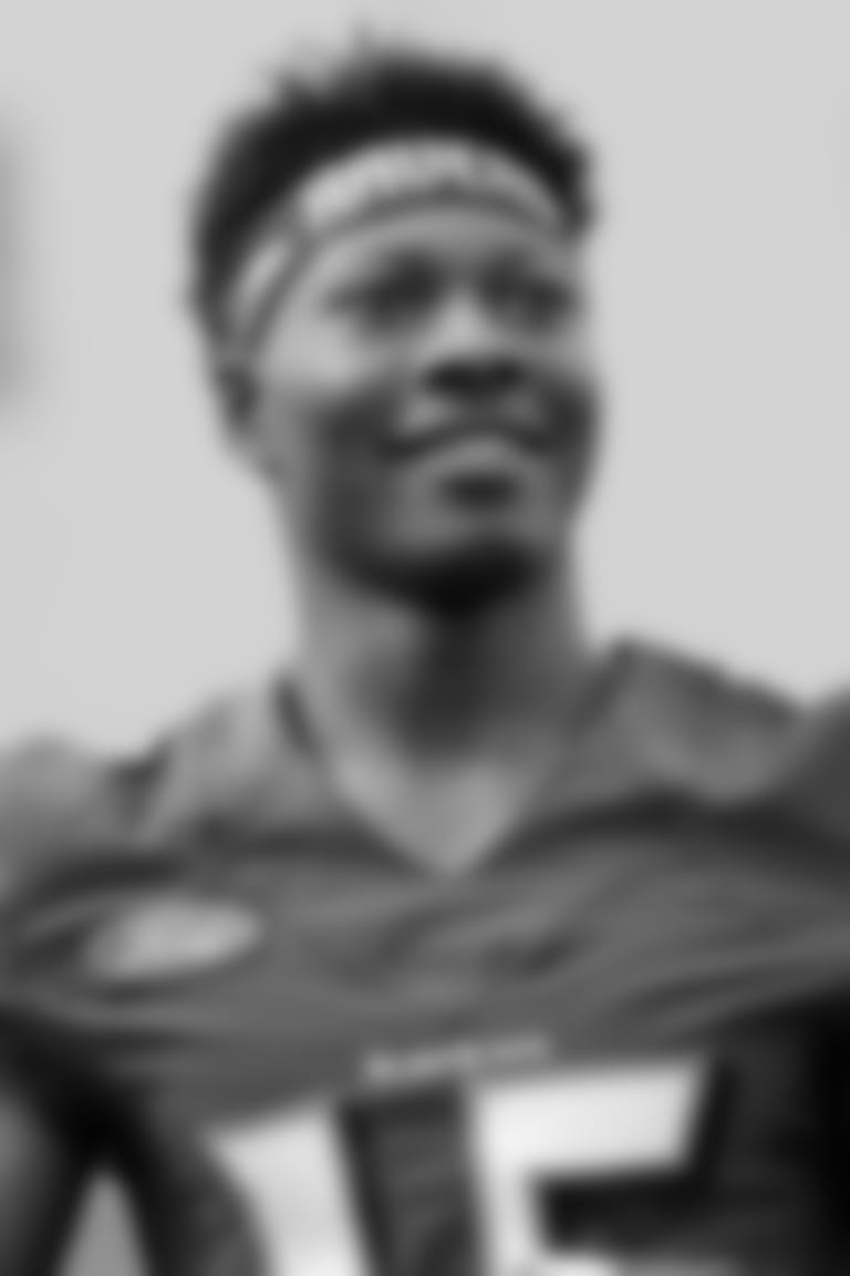"_Ravens 2019 1st_ _Round Pick, Marquise Brown, sporting this year's ""Teams on the RISE"" headband._"