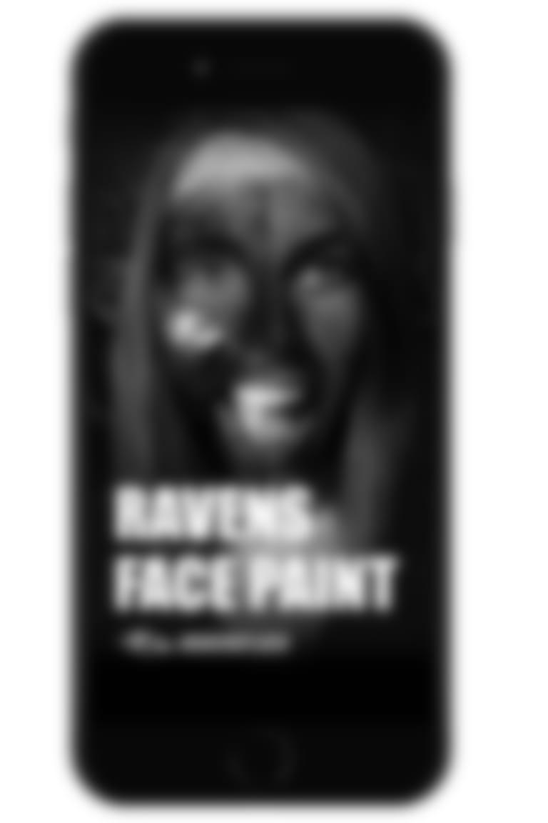 Ravens Face Paint