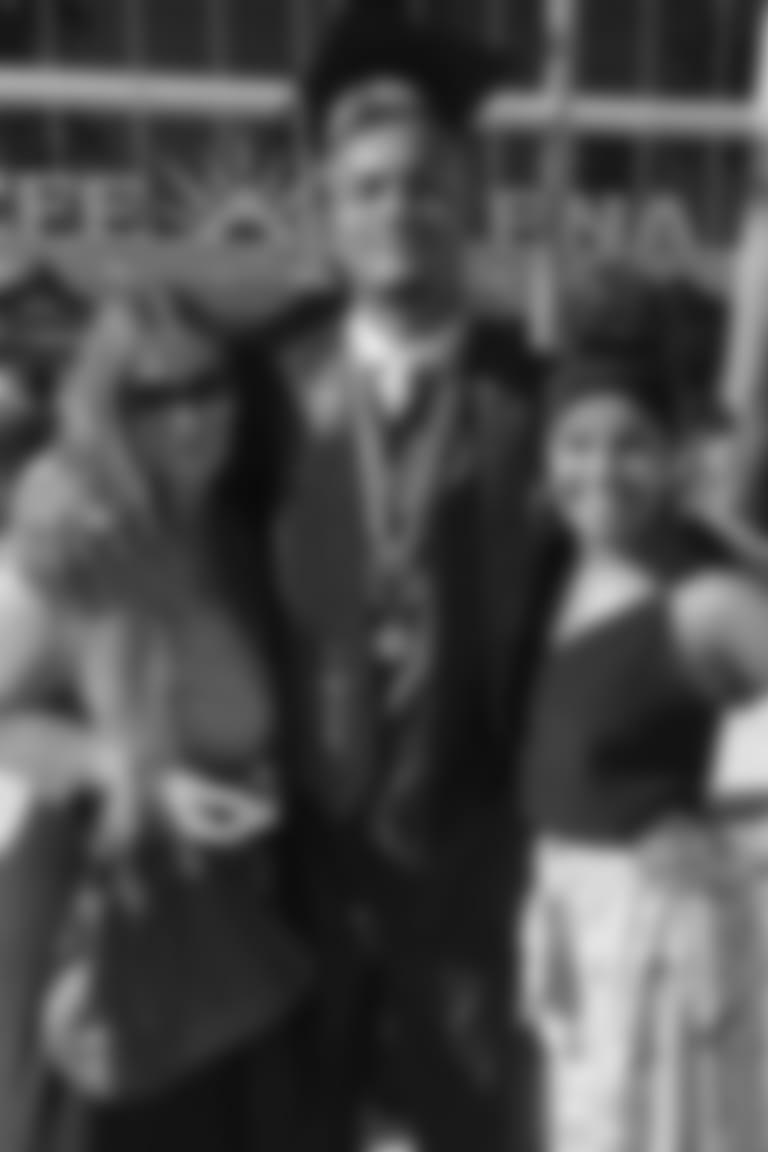 Gabriel Davis with his mom Alana and his sister Kayla at graduation.