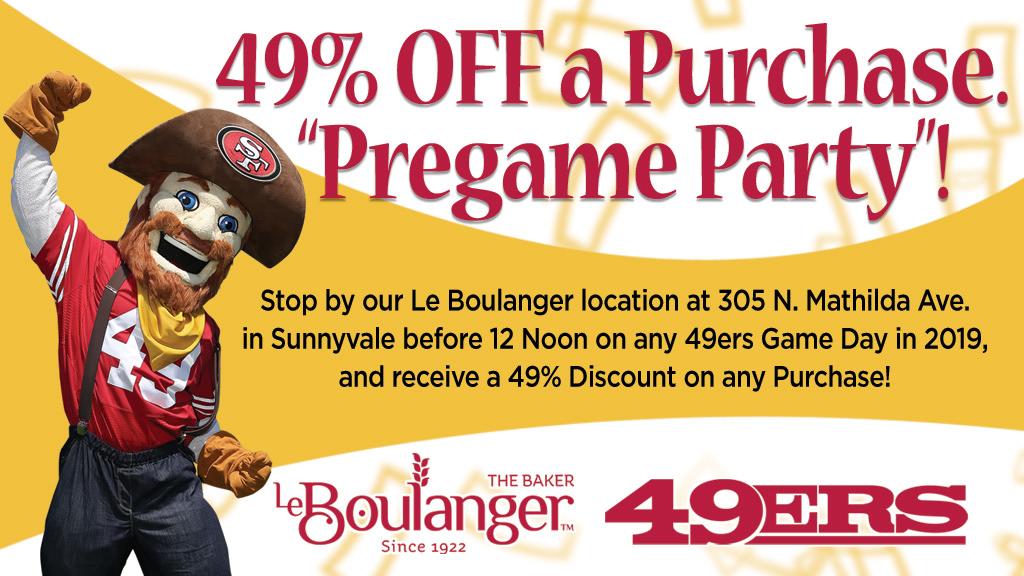 Pregame Party: 49% off a Purchase.
