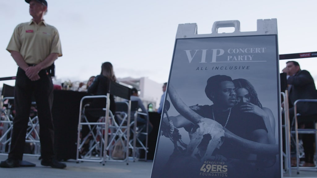 Jerry Rice and fellow 49ers Legends joined VIP Concert Party goers at the ultimate, all-inclusive party at the Jay-Z & Beyonce On the Run II Concert on the Pepsi Fan Deck at Levi's® Stadium.