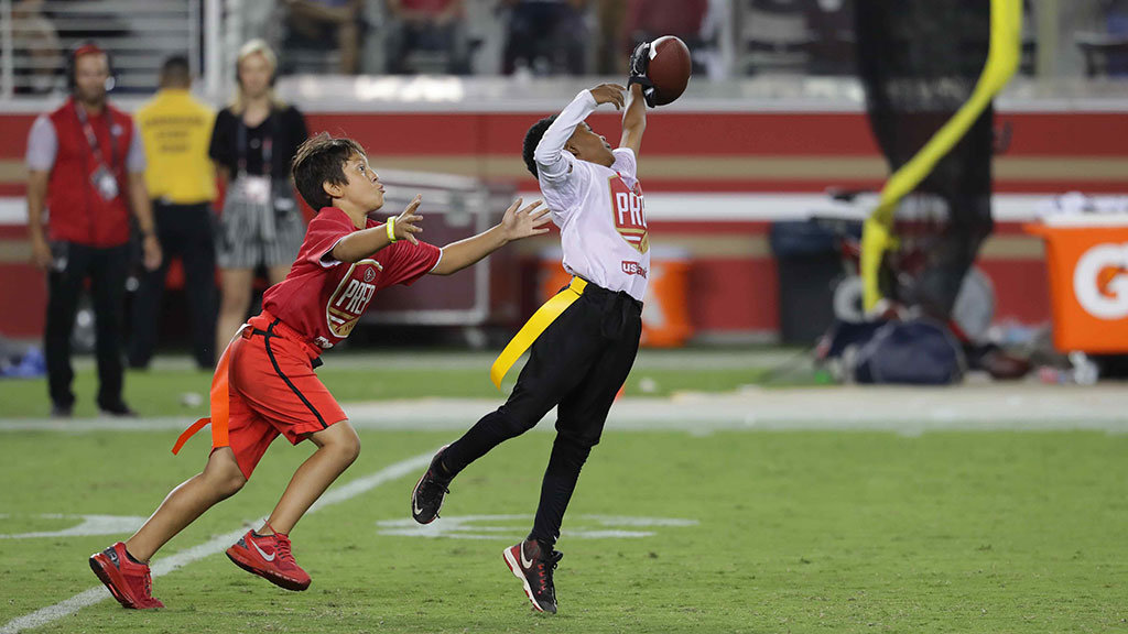 Halftime: 49ers Prep Flag Football presented by Mountain Mike's Pizza