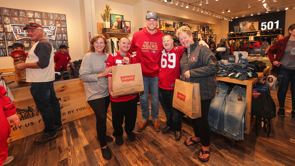 December 24: Levi's® and Mike McGlinchey Host Shop with a Player Event