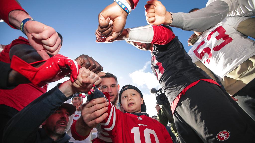 December 15: Landon Breaks Down the Huddle for 49ers Wish