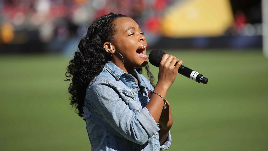 National Anthem: Teana Boston