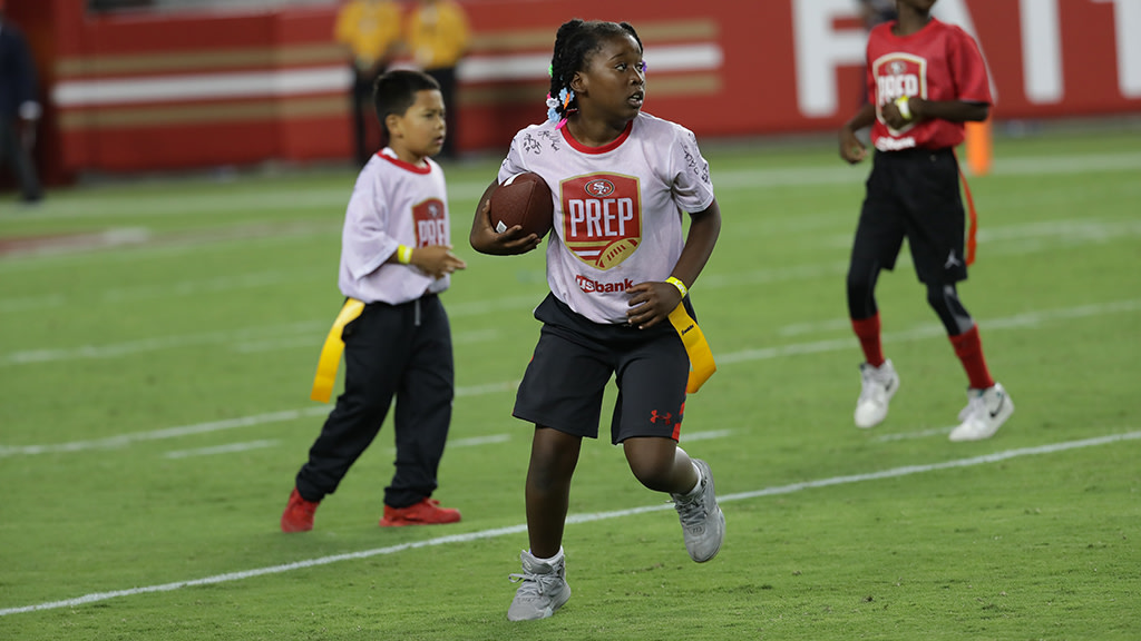 Halftime: 49ers PREP presented by U.S. Bank Flag Football Scrimmage presented by Mountain Mike's Pizza