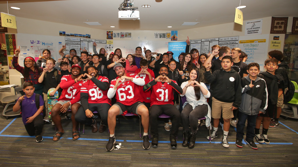December 1: 49ers Host Healthy Relationship Workshop with One Love and Youthhype
