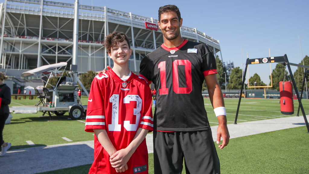 December 6: Aidan Joins Practice to Fulfill 49ers Wish