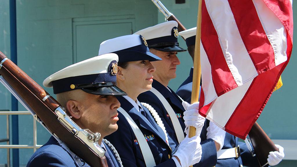 Honor Guard: U.S. Coast Guard Training Center Petaluma