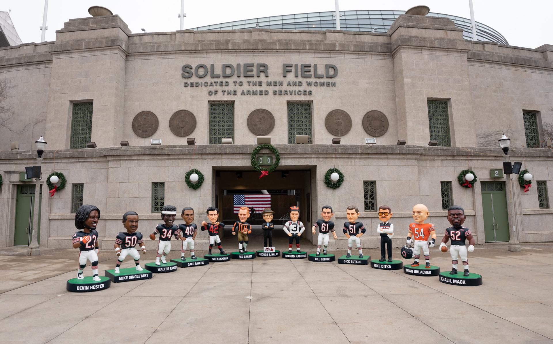 Come see all of the life-size gameday bobbleheads