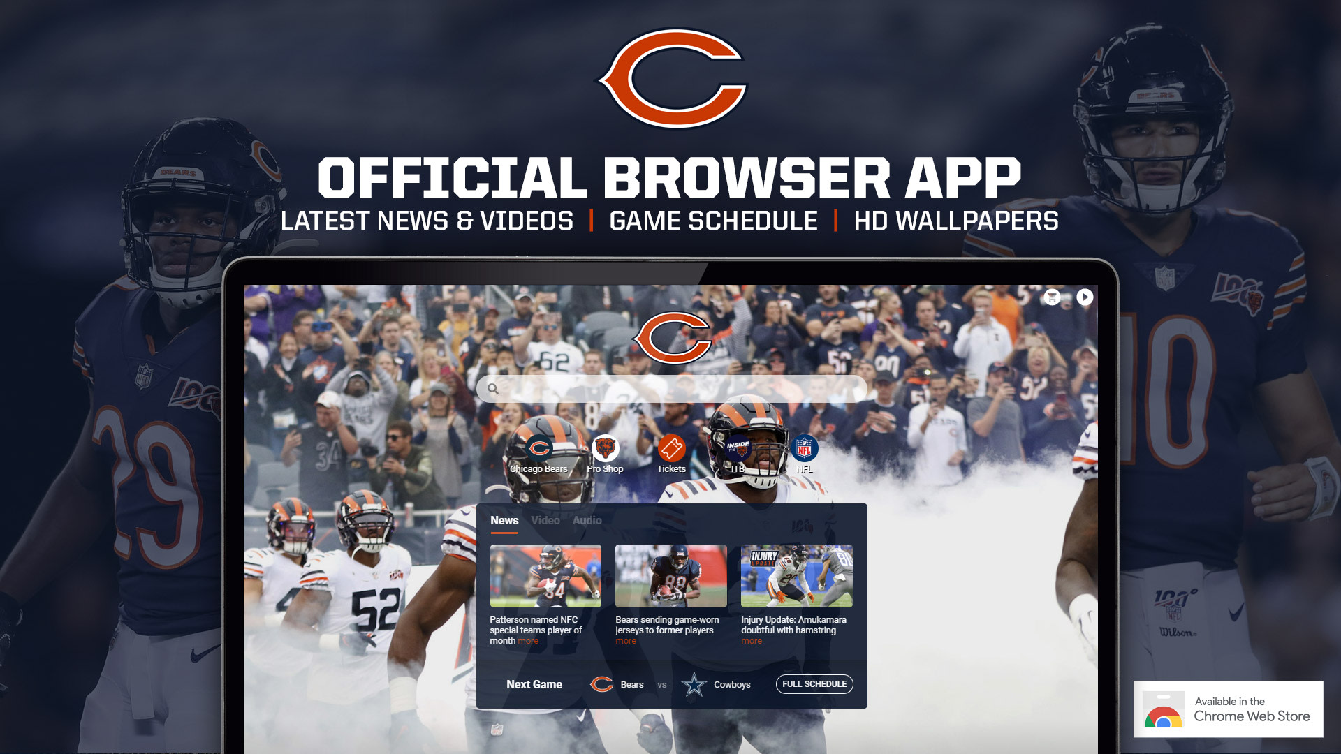 Chicago Bears Official Browser App