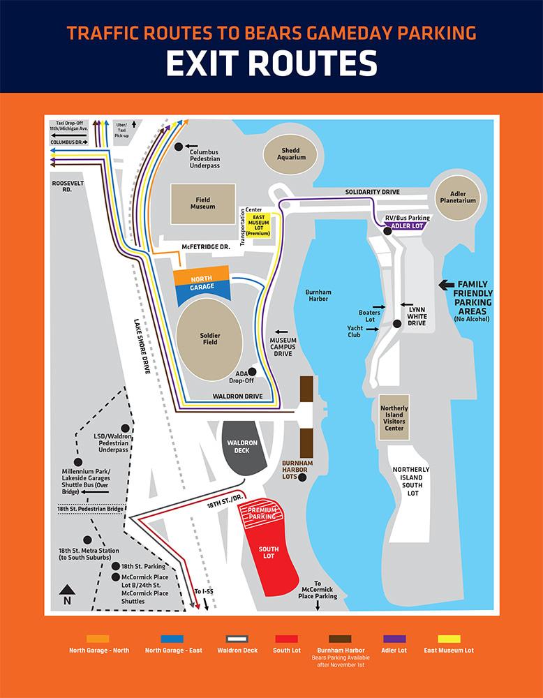 Parking & Transportation Guide | Chicago Bears Official Website