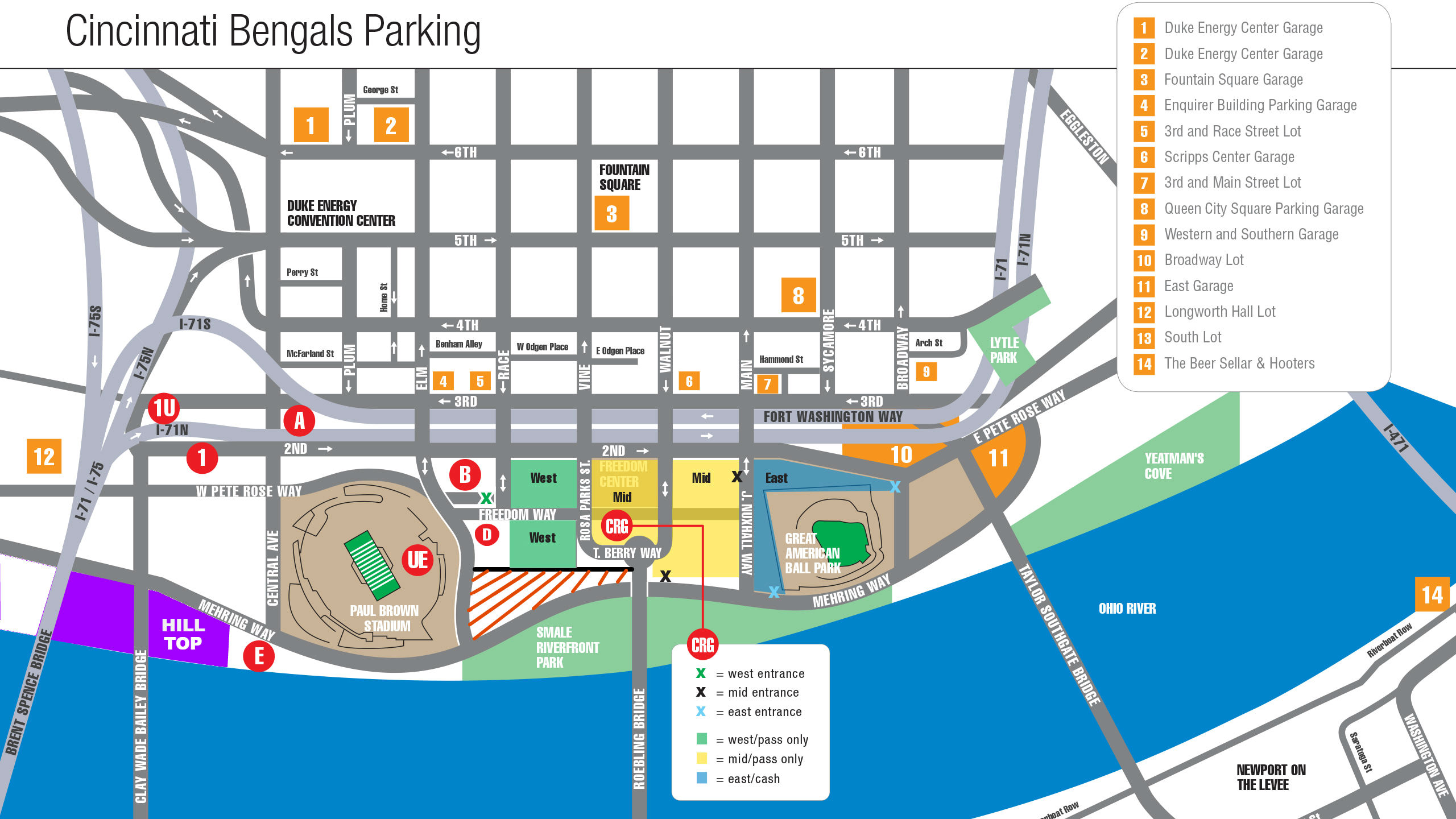 Cincinnati Bengals Stadium | Paul Brown Stadium - Bengals.com on cincinnati reds field map, cincinnati reds program, cincinnati reds rosie, cincinnati reds team, cincinnati reds logo 2012, cincinnati reds hall of fame, cincinnati reds players, cincinnati reds mustache, cincinnati reds artwork, cincinnati reds promotions, great american ballpark map, cincinnati reds c logo, cincinnati reds ticket prices, cincinnati bengals stadium map, cincinnati reds mr. red, cincinnati reds symbol, cincinnati reds nasty boys, cincinnati reds 2015,