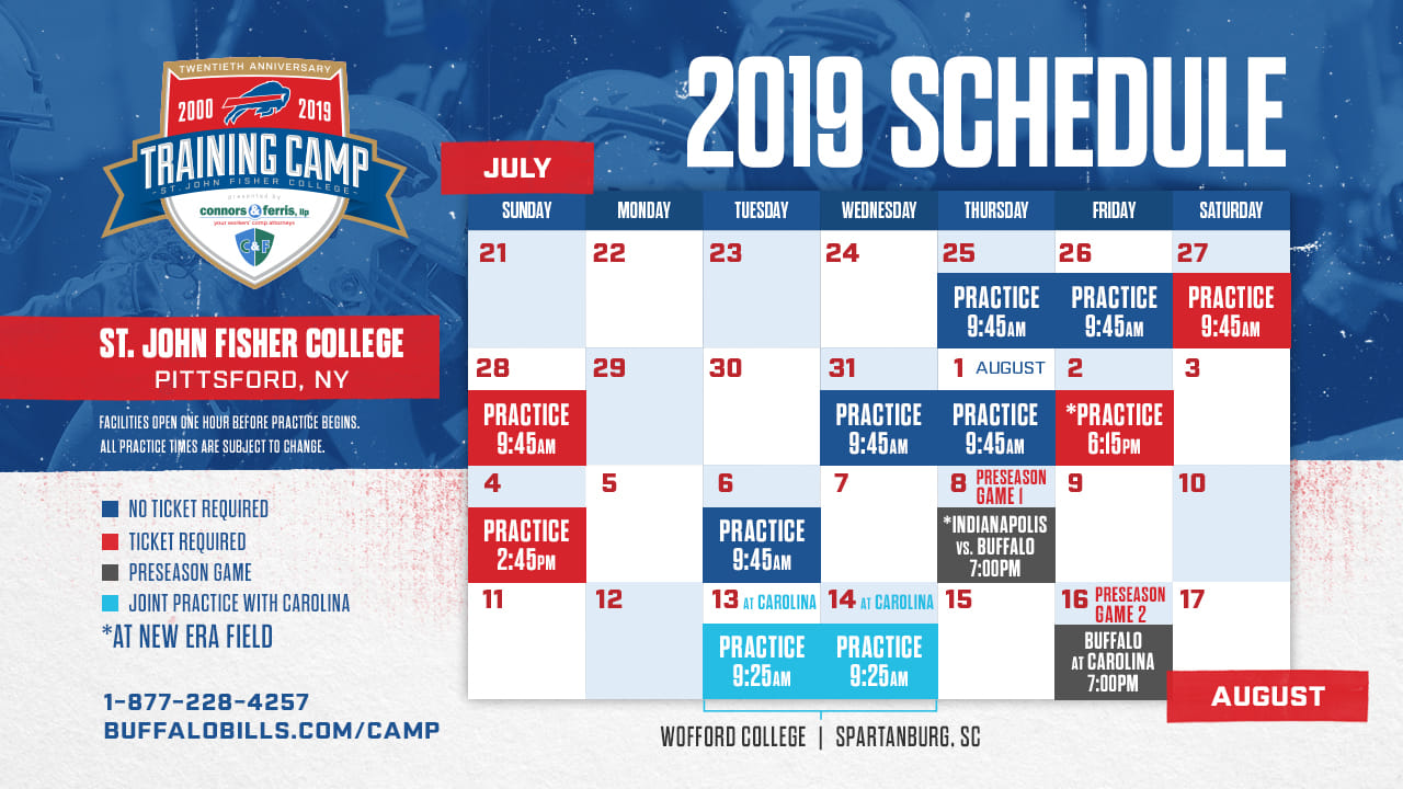 Buffalo Bills Schedule 2020.Bills Preseason Schedule 2020 Schedule 2020 Hermanbroodfilm