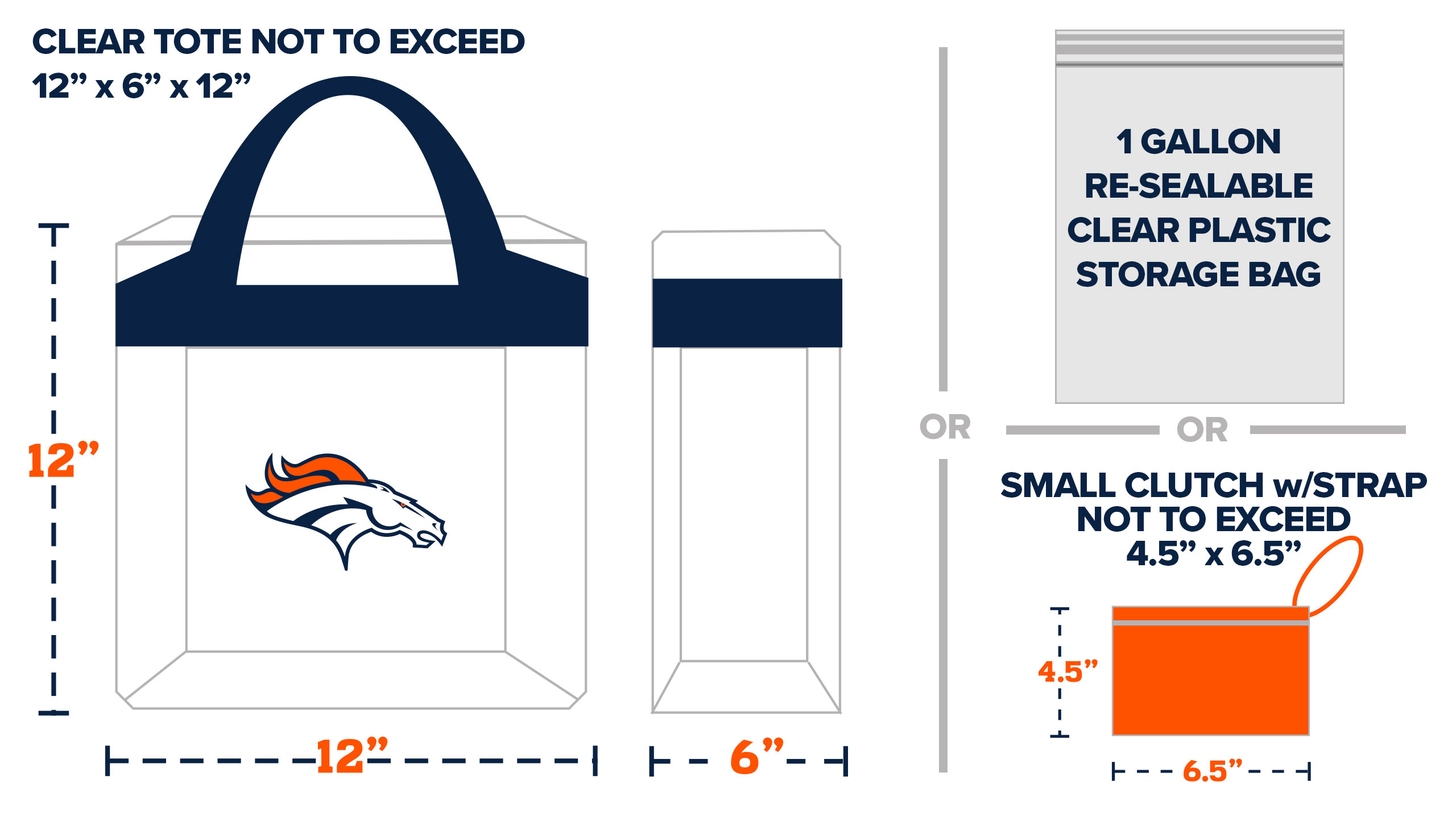 9546a8e90ca1 Denver Broncos | Clear Bag Policy