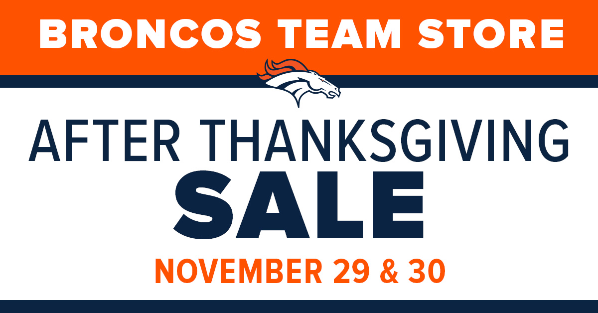 Stop by any of the Official Denver Broncos Team Store locations for the annual After Thanksgiving Sale featuring deep discounts