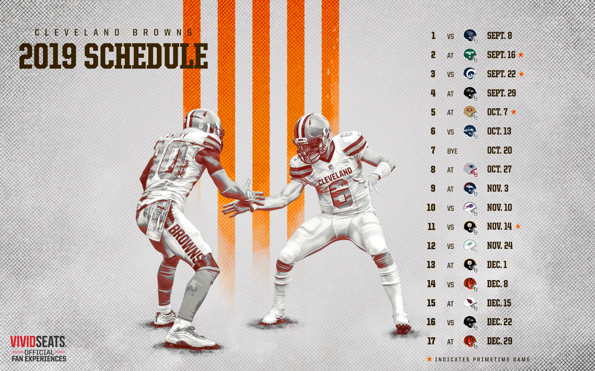 image about Cleveland Cavaliers Printable Schedule referred to as Browns Program Downloads Cleveland Browns