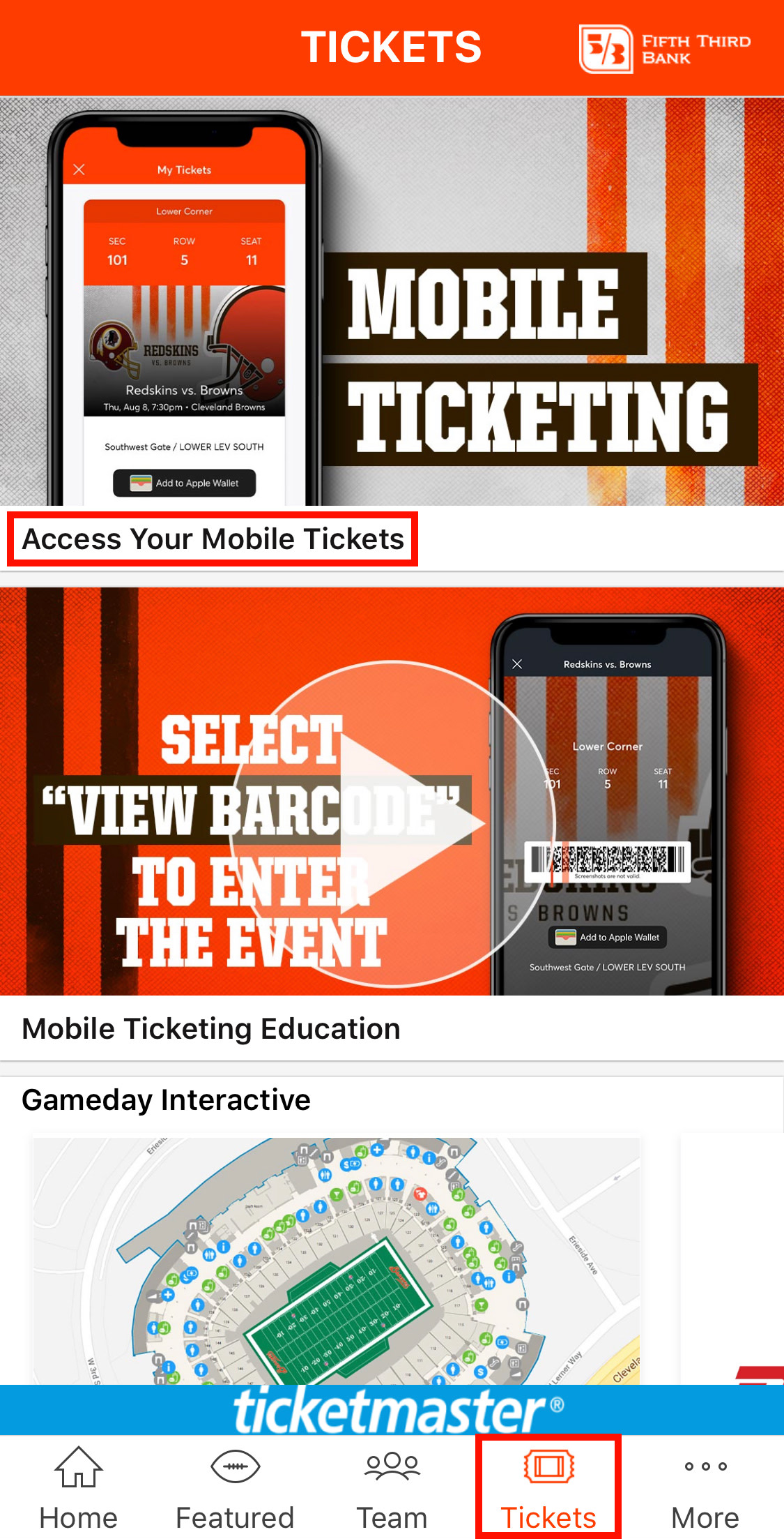 Browns Mobile Ticketing Information | Cleveland Browns