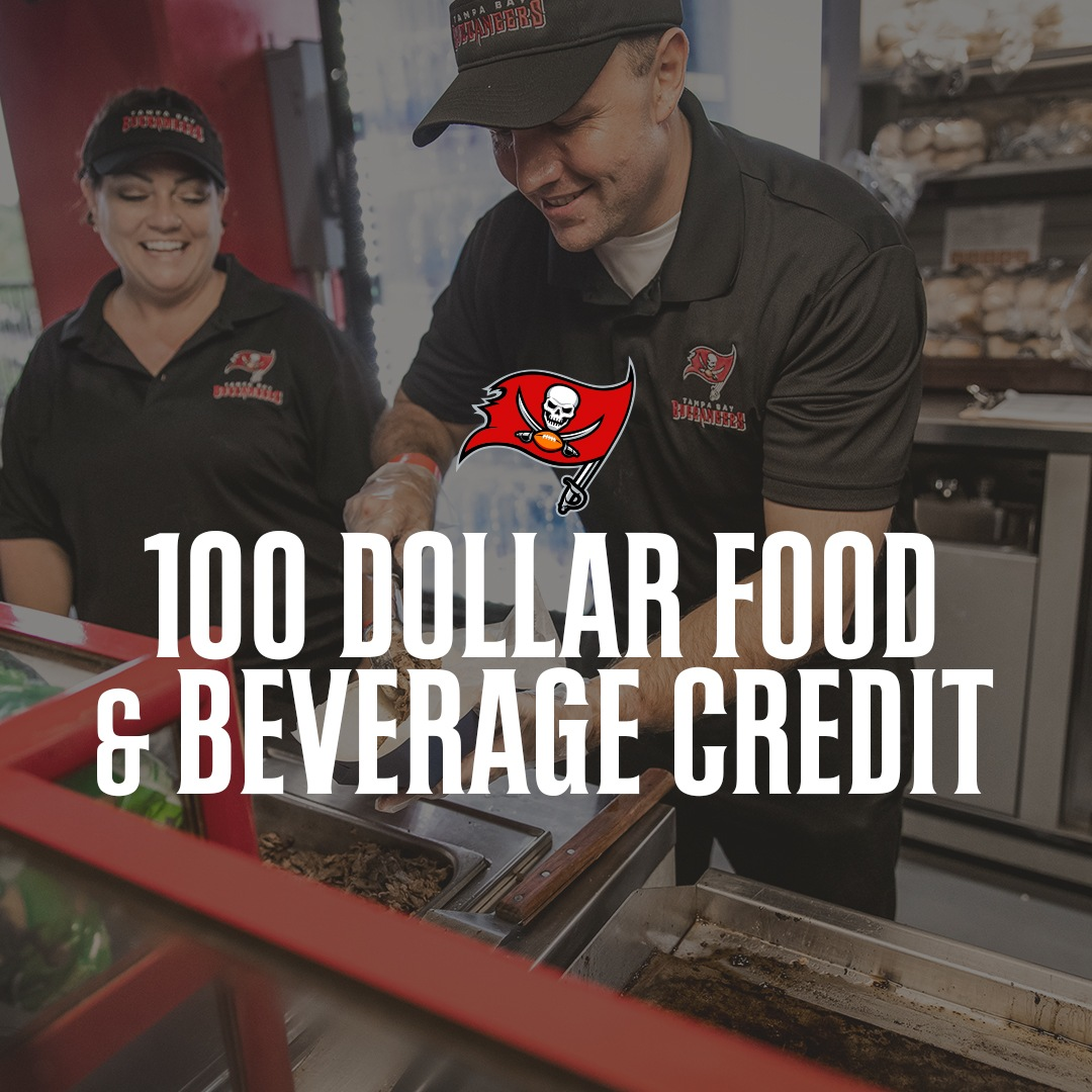 $100 Food & Beverage Credit for the 2020 Season
