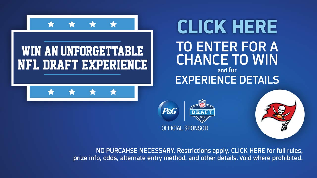Draft the Best at Publix and enter for a chance to win a once in a lifetime Buccaneers Draft experience from P&G