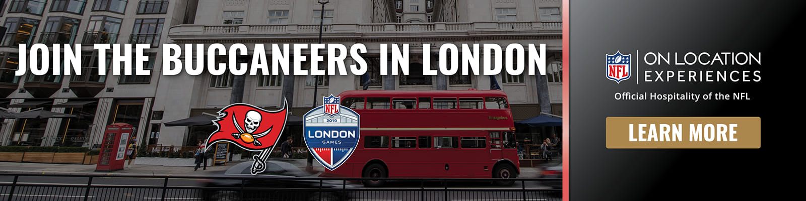 Follow the Bucs to London with the Official Hospitality Partner of the NFL – On Location Experiences