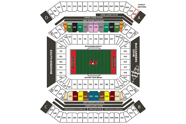 Seating and Pricing Map