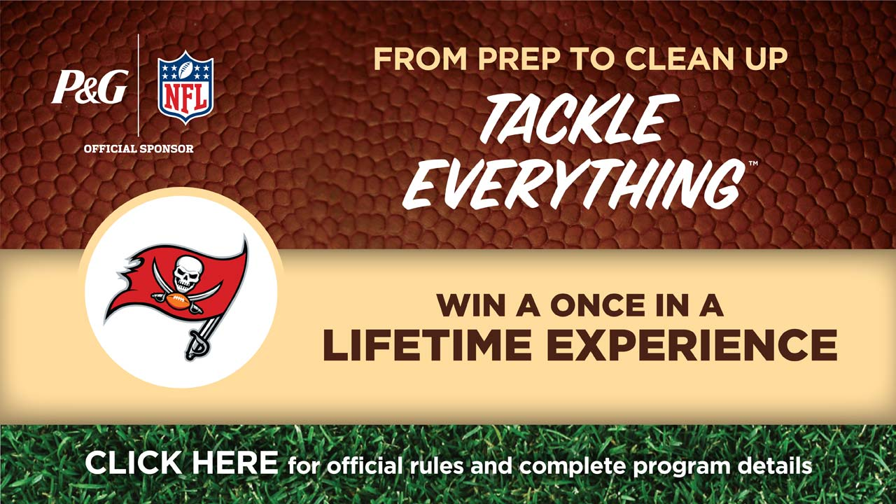 Tackle Everything at Publix and enter for your chance to win an unforgettable Buccaneers experience from P&G.